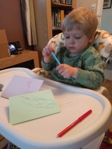 Making cards for mummy