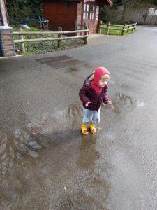 Lots of puddles to jump in