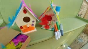 Decorated Fairy Houses