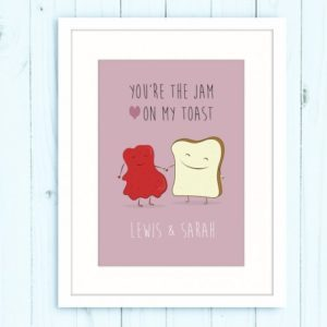 Jam-on-Toast-Pink-White-Mounted-500x500